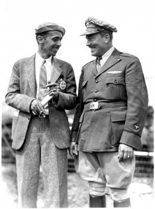 Roscoe Turner with fellow racer Bennie Howard at the National Air Races in Cleveland in 1935.