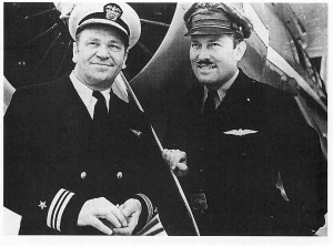 Roscoe Turner (right) gave flying instructions to some Hollywood actors, but good friend Wallace Beery was already a pilot.
