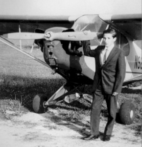 In 1961, while visiting friends of his parents in Galion, Ohio, 15-year-old Steve Hazy took his first flight on a U.S. general aviation aircraft, a Piper Cub.