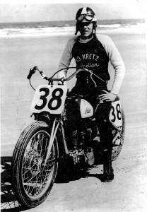 Ed Kretz Jr. nearly won the amateur event at the 1950 Daytona 200, before the engine seized in the last half-mile.