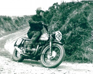 Ed Kretz Jr. raced screen legend Steve McQueen's Triumph motorcycle at the 1965 International Six-Day Trials in England.