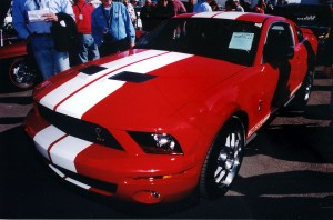 This 2007 Shelby G.T. 500 moves through in the staging