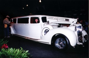 This elegant 1938 Packard limo is one of two that were originally built for the William Wrigley family, who used it on the island of Santa Catalina.