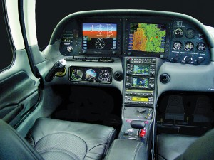 Cirrus Design's SR22-GTS cockpit is a private pilot's dream. The interior, specifically designed for pilot comfort, includes avionics that respond to pilots in an intuitive way, making the aircraft easy to fly.