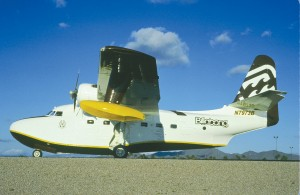 The HU-16B was painted in Billabong colors.