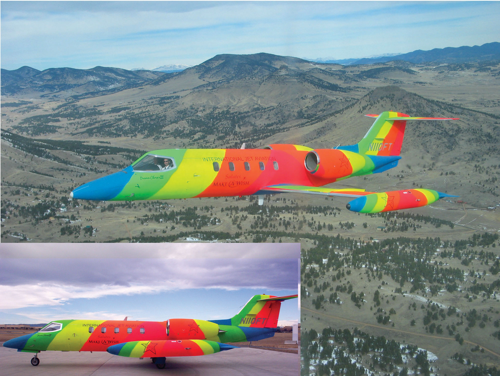 Rainbow-painted Jet takes to the Skies
