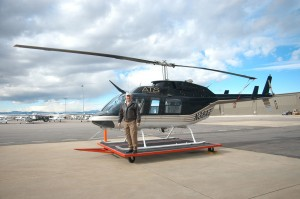 Richard Westra explained that ATS utilizes three aircraft, including this Bell 206L3 LongRanger helicopter. The company provides aerial surveillance to monitor pipeline integrity in the oil and gas industry, as well as utility and charter services.