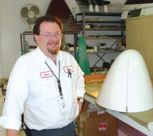 Kevin Fornall supervises the inspection, repair and fabrication of composite structures for customers.