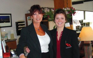Patrice Fenton (left) and Sam Pire provide first-class concierge services to Stevens Aviation's solid base of customers.