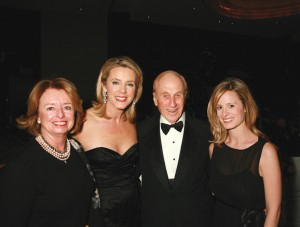 A.L. Ueltschi with daughter-in-law Jean Ueltschi (left), Deborah Norville, Inside Edition, and granddaughter Tori Ueltschi (right).