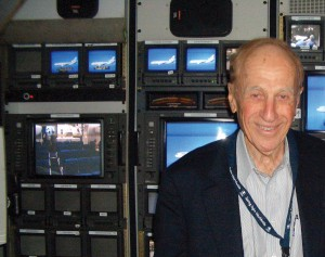Al Ueltschi, shown in the audio visual studio of the DC-10 Flying Eye Hospital, serves as chairman of ORBIS International.