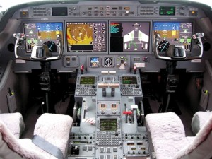 The G-450 is equipped with a Honeywell avionics suite.