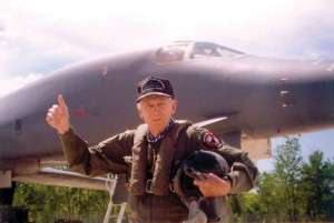 On April 2, 1997, in celebration of his 89th birthday, Brig. Gen. Scott flew his last flight, in a B-1 Lancer bomber, from Robins' 116th Bomb Wing. His flight log closed with more than 33,000 hours in the air.