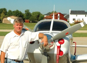 Norm Grant shows off his Ultimate Arrow, a completely renovated 1978 Piper Arrow III, at Clow International Airport.