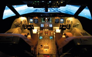 Level 5 fixed based simulators, such as this Paradigm Shift Solutions CRJ-200 simulator, may just as easily allow reasonable fidelity of training for a large part of the VLJ curriculum.