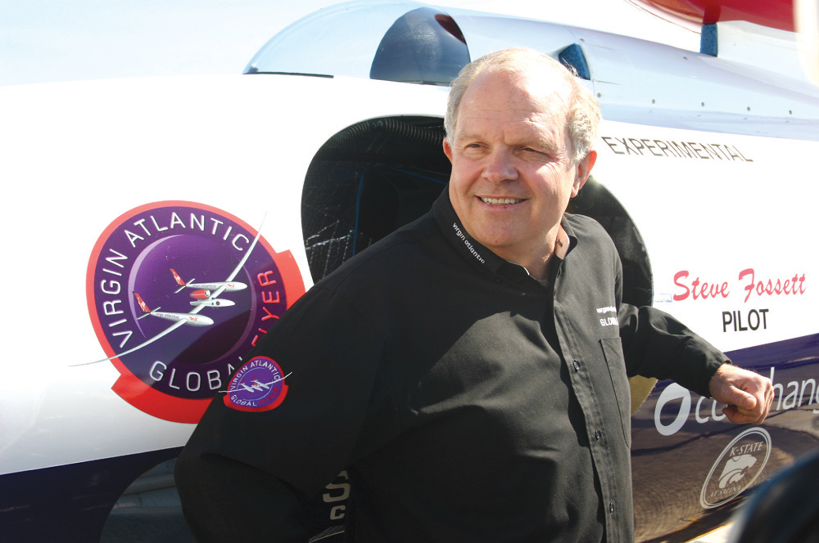 Steve Fossett and Virgin Atlantic GlobalFlyer Set New Solo World Record