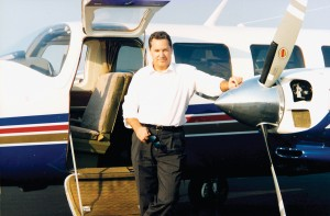 "Jeff Rodengen's first high-performance aircraft was this Aerostar Superstar 700P. ""It was like flying a Ferrari, small wings, high speed, limited range,"" he said. ""It was also my most maintenance-heavy aircraft."""