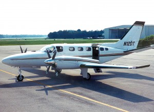 "Jeff Rodengen's current ride is his Cessna Conquest II with Dash-10 engines. ""When I traded in my Citation for the Conquest II, my expenses were almost cut in half, but I only lost 30 kts, and picked up two seats,"" he said."