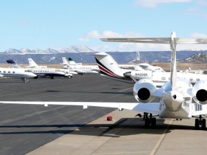 The ramp at Garfield County Regional Airport is rich with corporate and private jet aircraft that use Rifle as an alternative to cramped quarters at Aspen/Snowmass and Eagle/Vail.