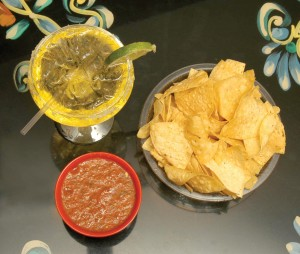 The Rio's award-winning margarita complements chips and salsa, made fresh daily.