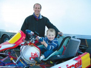 Jim Keesling, shown with his son, Logan, owns The Track at Centennial.