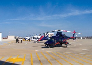 Heli-Expo 2006 was highly successful, with announced helicopter sales contracts totaling more than $620 million among all of the major manufactures represented on this heliport flight line at the top of the Dallas Convention Center.