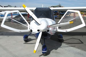 The MD-3 Sport Rider's side canopy doors open toward the nose of the aircraft, making entering and exiting the cockpit a breeze.