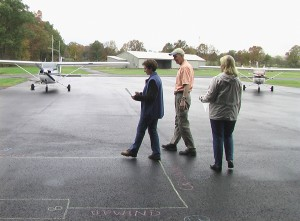 The Take Flight workshops use experiential learning. Here, a session is in progress on the ramp.