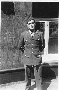 Clinton DeWitt Burdick, in Martlesham Heath, England, in 1944, was one of only five aerial aces in the 356th FG.