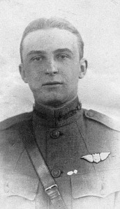 This rare photo of Lt. Howard Burdick, 17th Aero Squadron, was taken in France.