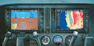 The Garmin G1000 NAV III glass cockpit integrates all primary flight, engine and sensor data to provide intuitive, at-a-glance situational awareness. Real-time, flight-critical information is presented on two big, colorful 10.4-inch active-matrix displays