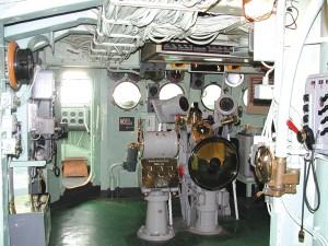 On the Navigation Bridge, visitors can learn how the crew of Intrepid would navigate the oceans in any weather, day or night.