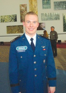 U.S. Air Force Academy senior cadet Doug Presley was a guest during College Week.