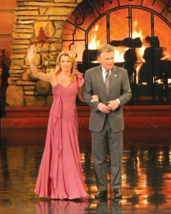 Vanna White and Pat Sajak greet fans.