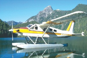 Fishing trips to mountain lakes and sightseeing tours of the Northwest's mountain scenery are popular flight choices for Kenmore Air passengers.