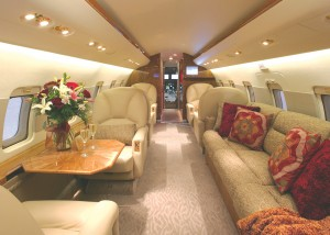 Interior modifications and completions are one of the company's specialties, as demonstrated by this complete refurbishment of a Bombardier Challenger CL604.