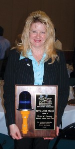 I usually Rose Dorcey was recently awarded the Wisconsin Airport Management Association's Blue Light award.talk about a couple of our writers.