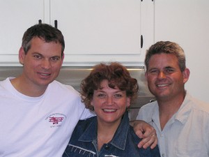 L to R: Ted Parks, Andrea Parks and Andy Parks share a close sibling bond with one another.