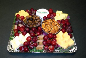 Never content with ordinary cuisine, Jetfinity adorns its cluster of imported cheeses—brie, gruyere, gouda, chevre and boursin—with foie gras, grapes, olives and imported crackers.