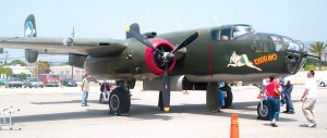 The B-25J Mitchell Tondelayo is only on this tour until June 5.