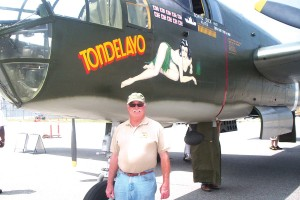 Collings B-25 pilot Mike Walsh, with 5,000 pilot hours, has been flying for 33 years.