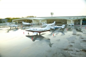 With nearly eight acres of ramp, Jetscape Services can provide complete ground handling, hangar facilities and fuel services for aircraft as large as a Boeing 757.