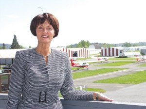 CEO Kandace Harvey runs family-owned Harvey Field in Snohomish, Wash. The private airport is one of the state's most active general aviation fields.