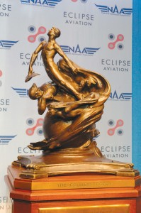 "Considered the ""Oscar of aviation,"" the Collier Trophy was established in 1911. It was named after publisher Robert J. Collier, the first person to purchase a private airplane from the Wright brothers."