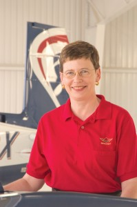 Mooney Airplane Company CEO Gretchen Jahn is the first female to be elected as a CEO of an aircraft manufacturer. She's also the first female to do so coming from outside of the aviation industry.