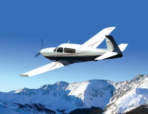 Mooney's Ovation3 isn't as fast as the Acclaim, but with its TCM IO-550-N engine, it powers through the sky at 197 knots, and it has a Garmin G1000 integrated avionics suite.