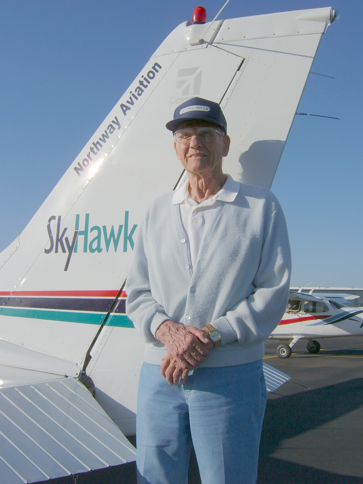 Northwest Student Pilot Makes Solo Flight at 91