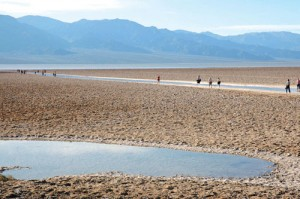 At 282 feet below sea level, Badwater is the lowest point in the Western Hemisphere.