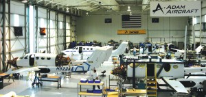 Adam Aircraft has ramped up its production facilities in Colorado and Utah and eventually plans to produce up to 80 A500s per year.
