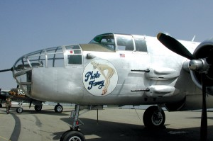 Planes of Fame's B-25, Photo Fanny, is frequently used in movies and television and as a camera platform.